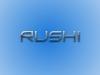 Glossy Text Rushi